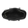 Borsetta Shopper con cuciture e nappe bata, nero, 961-6287 - 15