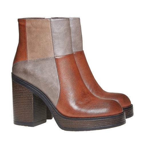 Stivaletti alla moda bata, marrone, 791-3301 - 26