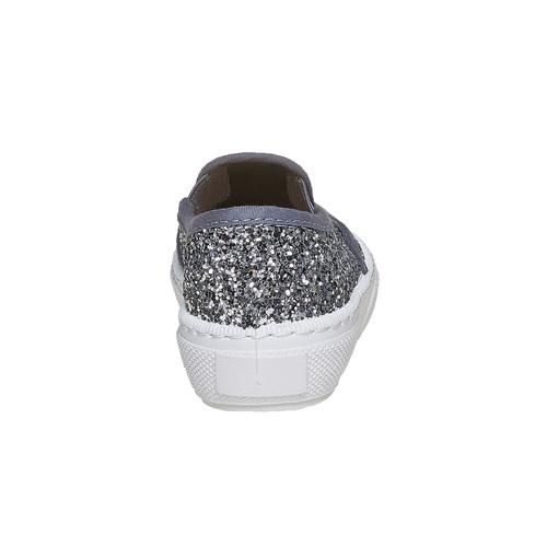 Slip-on da bambina con glitter mini-b, grigio, 229-2116 - 17