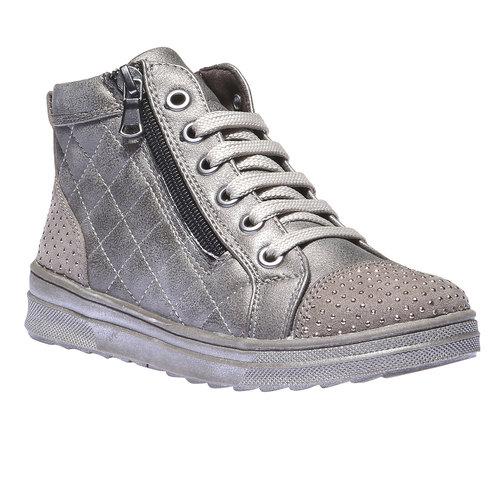 Sneakers lucide con strass mini-b, marrone, 321-3165 - 13