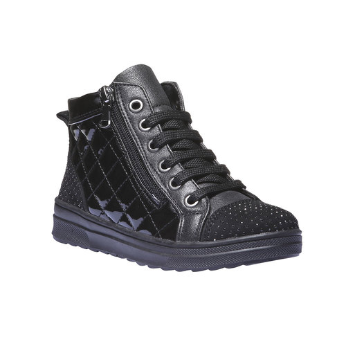 Sneakers lucide con strass mini-b, nero, 321-6165 - 13