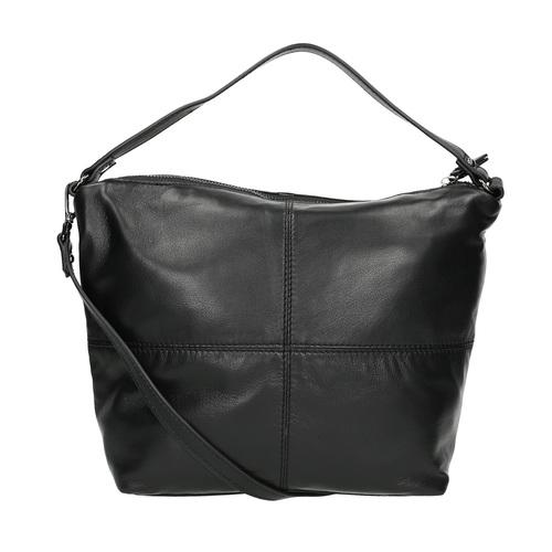 Borsetta di pelle con tracolla rimovibile bata, nero, 964-6233 - 26