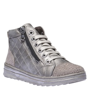 Sneakers lucide con strass mini-b, marrone, 321-3165 - 13