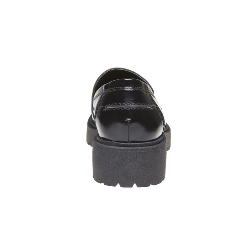 Tassel Loafer in pelle con suola appariscente bata, nero, 514-6199 - 17