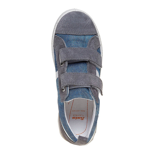 Sneakers da bambino con chiusure a velcro flexible, grigio, 311-2234 - 19