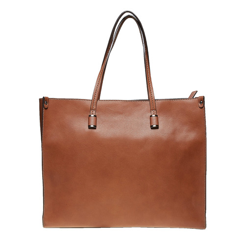 Borsetta marrone in stile Shopper bata, marrone, 961-3736 - 26