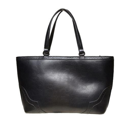 Borsetta in stile Shopper bata, nero, 961-6878 - 26
