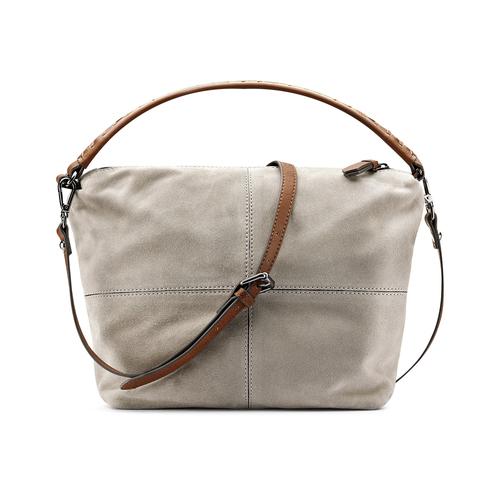 Borsetta di pelle in stile Hobo bata, grigio, 963-2130 - 26