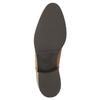 Scarpe di pelle alla caviglia con cerniera bata, marrone, 594-3518 - 26