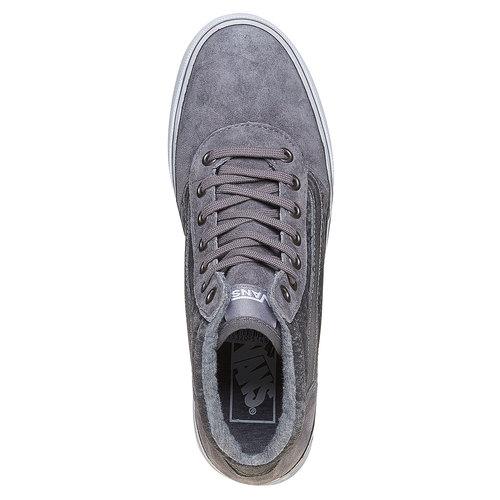 Sneakers alla caviglia in pelle da donna con motivo di serpente vans, grigio, 503-2312 - 19