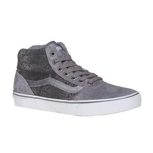 Sneakers alla caviglia in pelle da donna con motivo di serpente vans, grigio, 503-2312 - 13