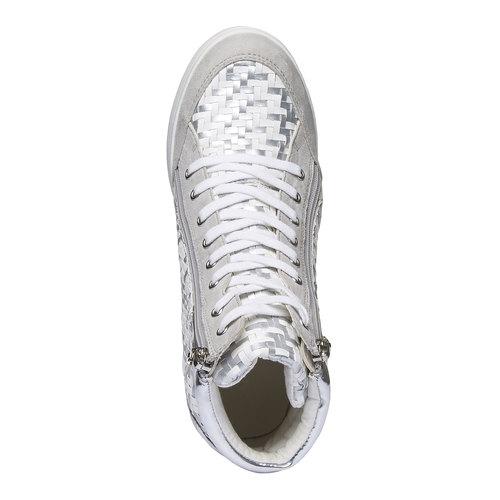 Sneakers alla caviglia con zeppa north-star, bianco, 721-1915 - 19