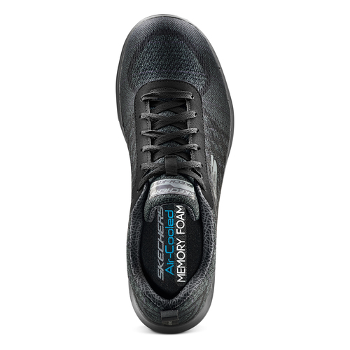 Sneakers sportive da uomo skechers, nero, 809-6350 - 17