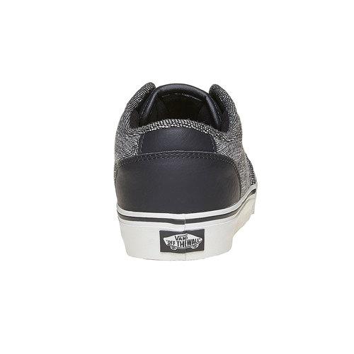 Sneakers casual da uomo vans, nero, 801-6504 - 17