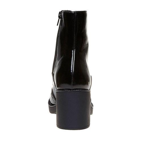 Scarpe da donna alla caviglia in stile Oxford bata, nero, 691-6148 - 17
