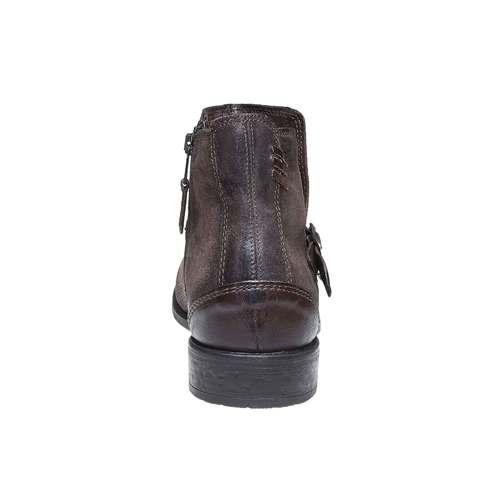 Scarpe da uomo alla caviglia con fibbia bata, marrone, 894-4482 - 17