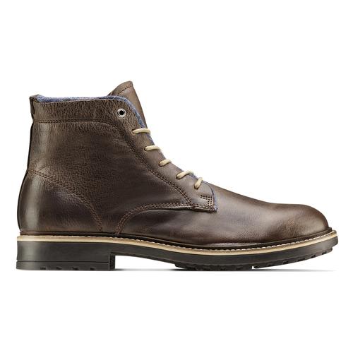 Scarpe di pelle alla caviglia da uomo bata, marrone, 894-4522 - 26