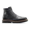 Scarpe in pelle sopra la caviglia con suola appariscente bata, nero, 894-6522 - 13