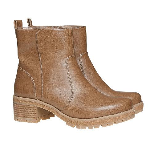 Scarpe alla caviglia da donna bata, marrone, 691-2245 - 26