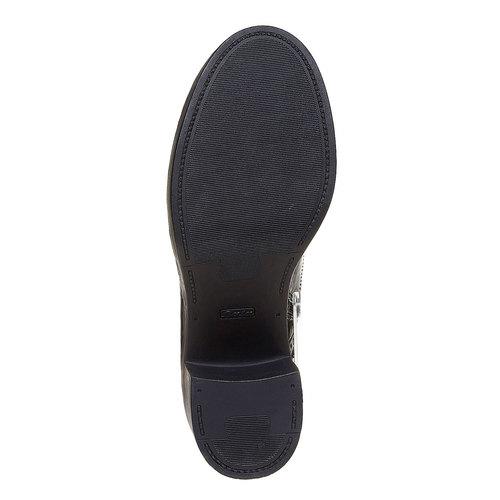 Scarpe da donna alla caviglia in stile Oxford bata, nero, 691-6148 - 26