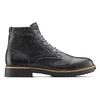 Scarpe in pelle sopra la caviglia con suola appariscente bata, nero, 894-6522 - 26