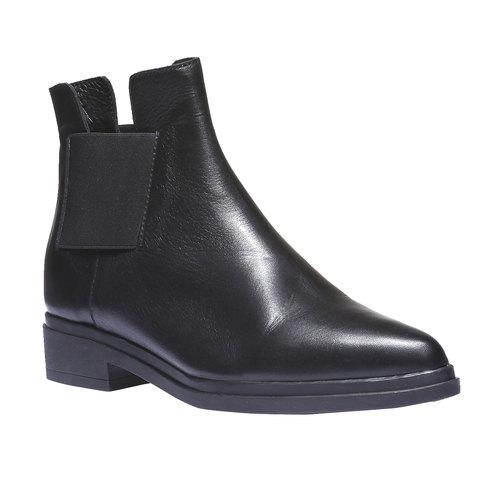 Scarpe di pelle in stile Chelsea bata, nero, 594-6178 - 13