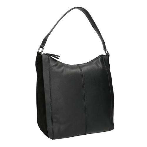 Borsetta di pelle nera in stile Hobo bata, nero, 964-6254 - 13