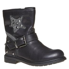 Scarpe da ragazza alla caviglia con cerniera mini-b, nero, 291-6153 - 13