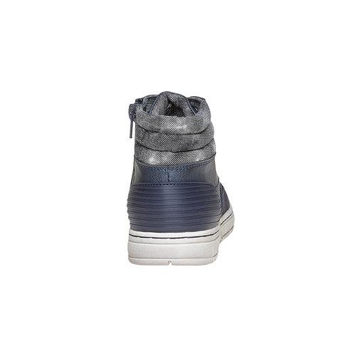 Sneakers da bambino alla caviglia mini-b, blu, 391-9257 - 17