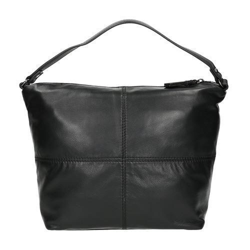 Borsetta di pelle con tracolla rimovibile bata, nero, 964-6233 - 19