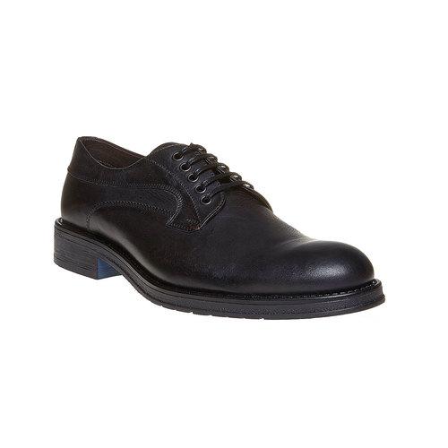 Scarpe basse casual di pelle bata, nero, 824-6556 - 13