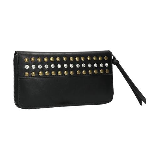 Portafoglio da donna con borchie bata, nero, 941-6140 - 13