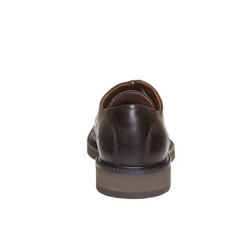 Scarpe basse di pelle con suola ampia bata-light, marrone, 824-4643 - 17
