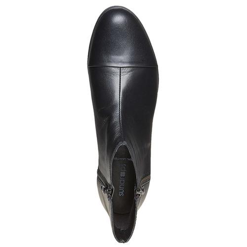 Scarpe alla caviglia con plateau sundrops, nero, 594-6101 - 19
