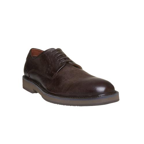 Scarpe basse di pelle con suola ampia bata-light, marrone, 824-4643 - 13