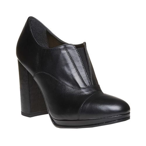 Scarpe alla caviglia con tacco stabile bata, nero, 724-6476 - 13