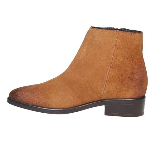 Scarpe di pelle alla caviglia bata, marrone, 593-3522 - 19