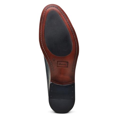 Scarpe basse di pelle in stile Derby bata, blu, 824-9874 - 19