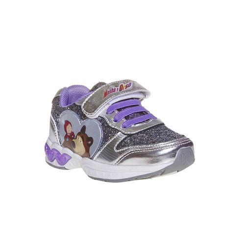 Sneakers da bambino con glitter, grigio, 229-2171 - 13