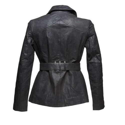 Giacca da donna con cintura bata, nero, 973-6115 - 26