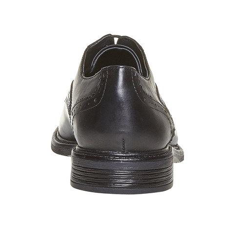 Scarpe basse Derby da uomo in pelle, nero, 824-6843 - 17