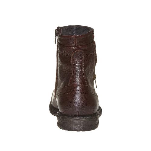 Scarpe da uomo alla caviglia bata, marrone, 894-4311 - 17