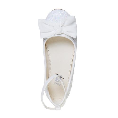 Ballerine da ragazza con glitter mini-b, bianco, 329-1177 - 19