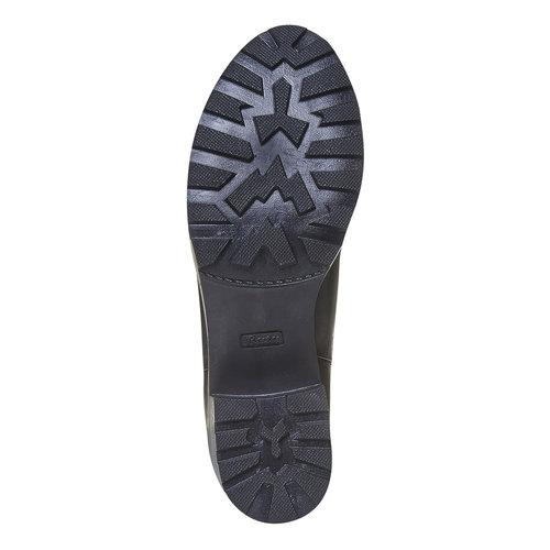 Scarpe di pelle alla caviglia da donna bata, nero, 694-6309 - 26