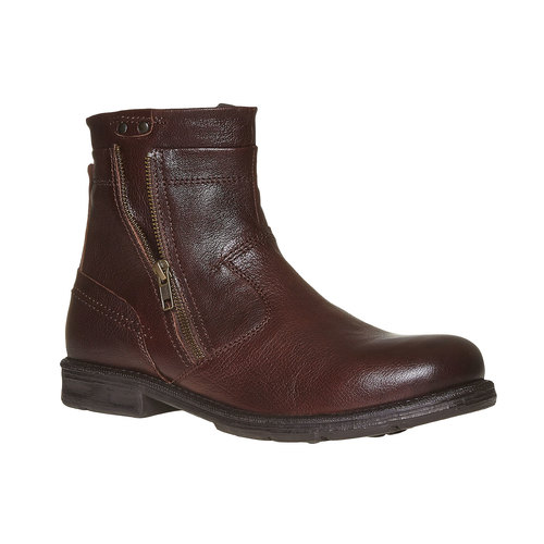 Scarpe da uomo alla caviglia bata, marrone, 894-4311 - 13
