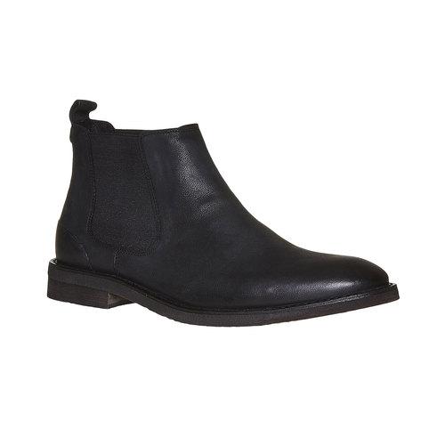 Scarpe di pelle in stile Chelsea Boots bata, nero, 894-6566 - 13