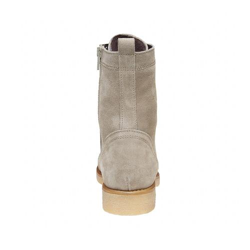 Scarpe stringate in pelle bata, grigio, 593-2106 - 17