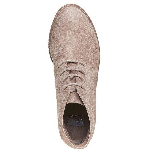 Scarpe da donna alla caviglia con plateau bata, grigio, 799-2254 - 19