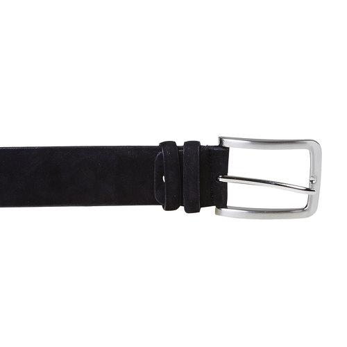 Cintura di pelle da uomo bata, nero, 954-6120 - 26