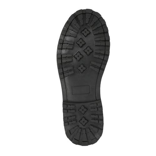 Scarpe in pelle sopra la caviglia da bambino mini-b, grigio, 394-2316 - 26